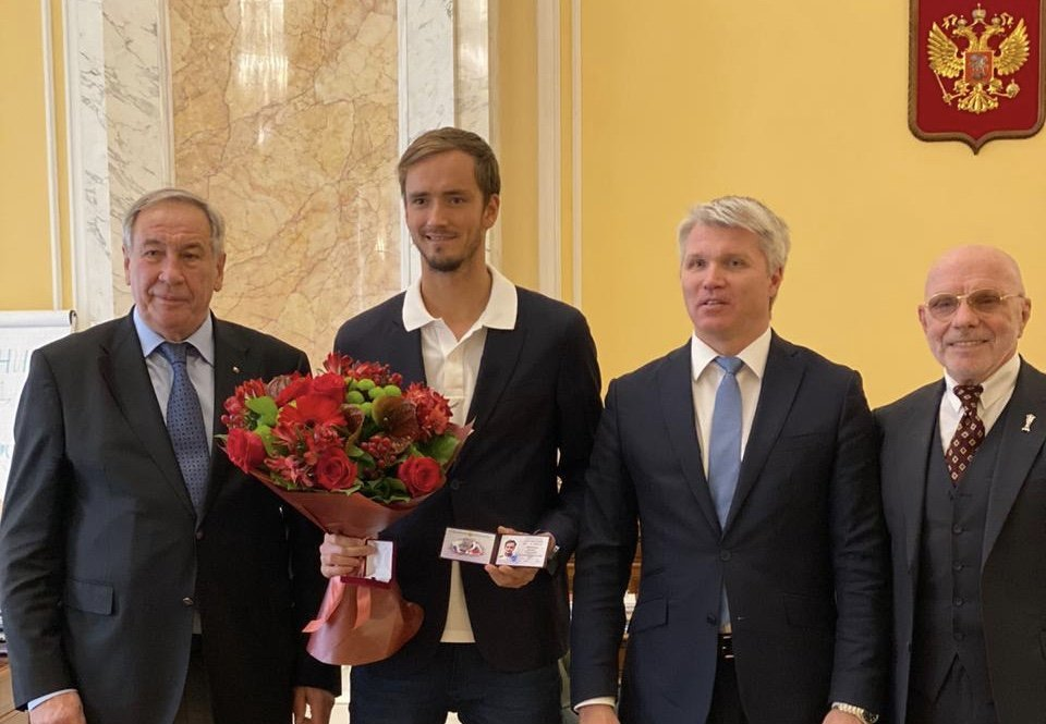 Daniil Medvedev awarded the title of Honored Master of Sports of the Russian Federation