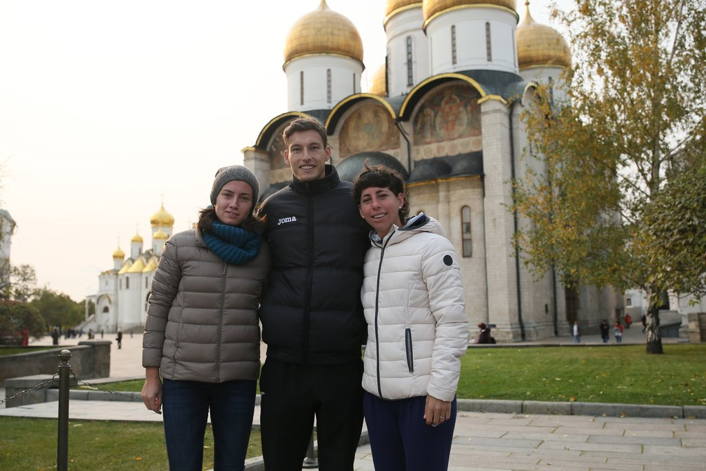 Anastasija Sevastova, Pablo Carreno Busta and other players on the excursion to the Kremlin.