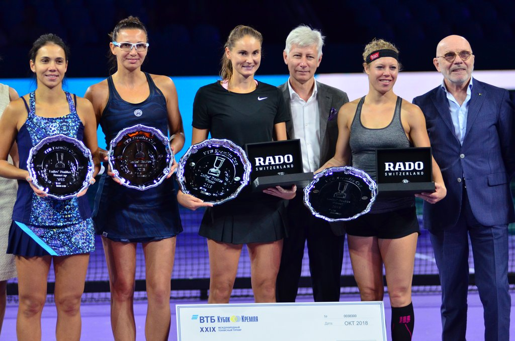 Alexandra Panova and Laura Siegemund are the winners of the «VTB Kremlin Cup 2018» in doubles