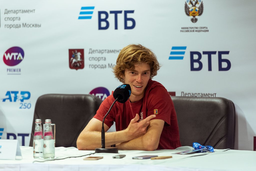 Andrey Rublev: «Very happy to play in front of my home stands»